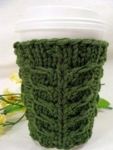 Images of Knitting Coffee Cozy Pattern