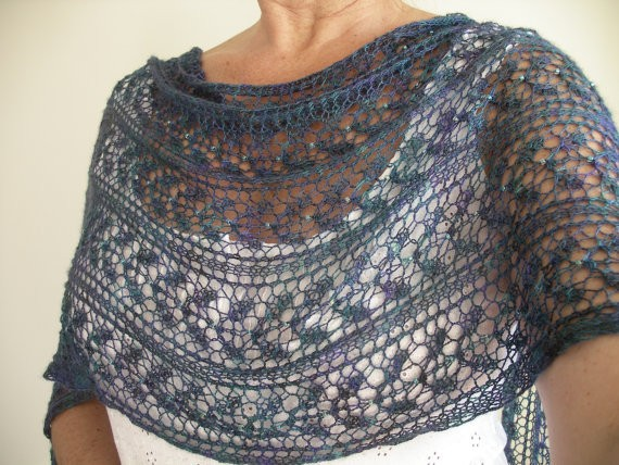 Shawl Knitting Pattern : Knit Shawl Pattern
