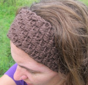 Loom Knit Ear Warmer Headband Pattern Pictures