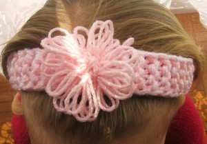 Loom Knitting Flower Headband Pattern Photos