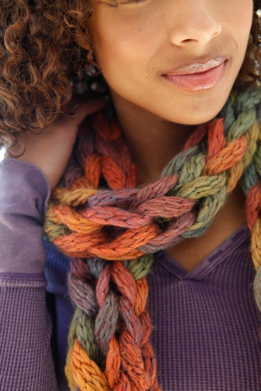 Knit Scarf Pattern With Bulky Yarn : Loose-Knit Scarf Pattern A Knitting Blog