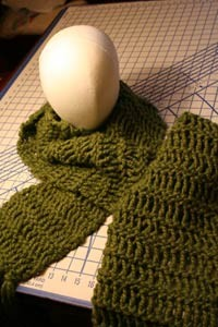 Twisted Drop Stitch Scarf Pattern Picture