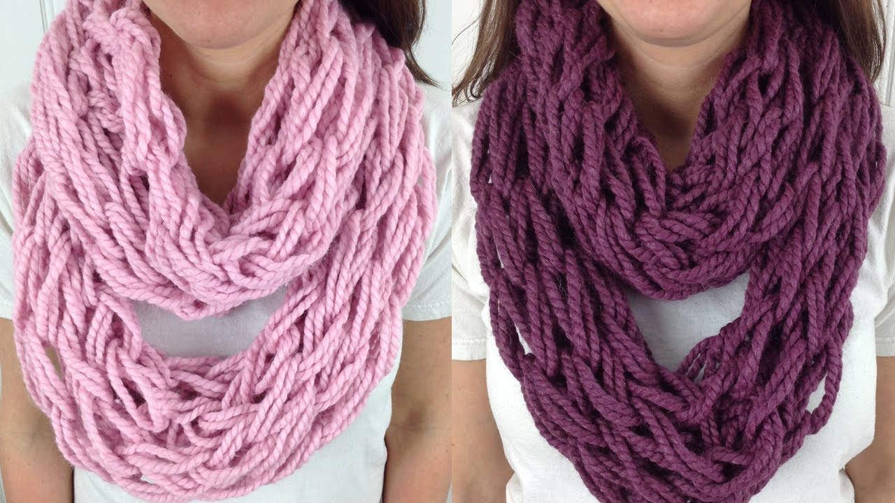 Pattern To Knit Infinity Scarf : Arm Knitting Scarf Patterns A Knitting Blog