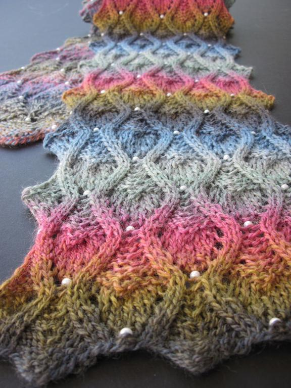 Knitting Patterns For Beaded Scarves : Patterns for Knitting with Beads A Knitting Blog