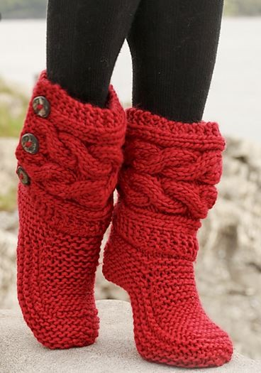 Knit Boots Pattern : Knit Boot Patterns A Knitting Blog