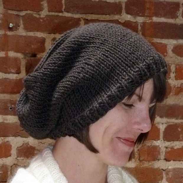 Easy Knit Hat Pattern With Circular Needles : Black Knit Beanie Patterns A Knitting Blog