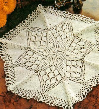 Free Knitting Pattern Lace Doily : Knit Doily Patterns A Knitting Blog