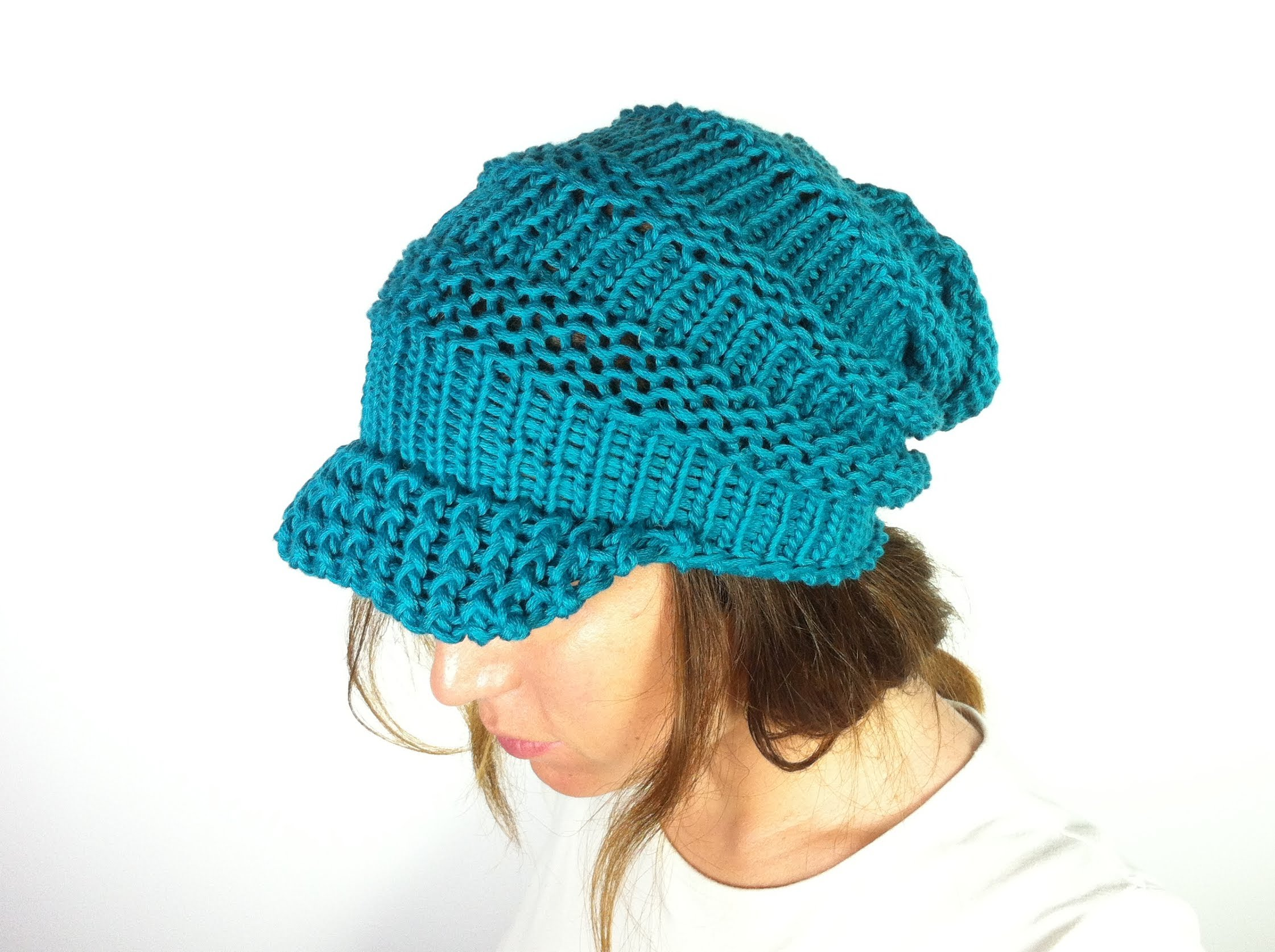 Knitting Loom Hat : Loom knit slouchy hat patterns a knitting