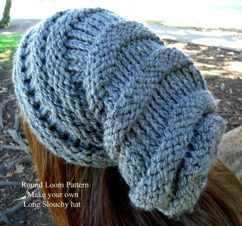 Knitting Loom Patterns : Loom knit slouchy hat patterns a knitting