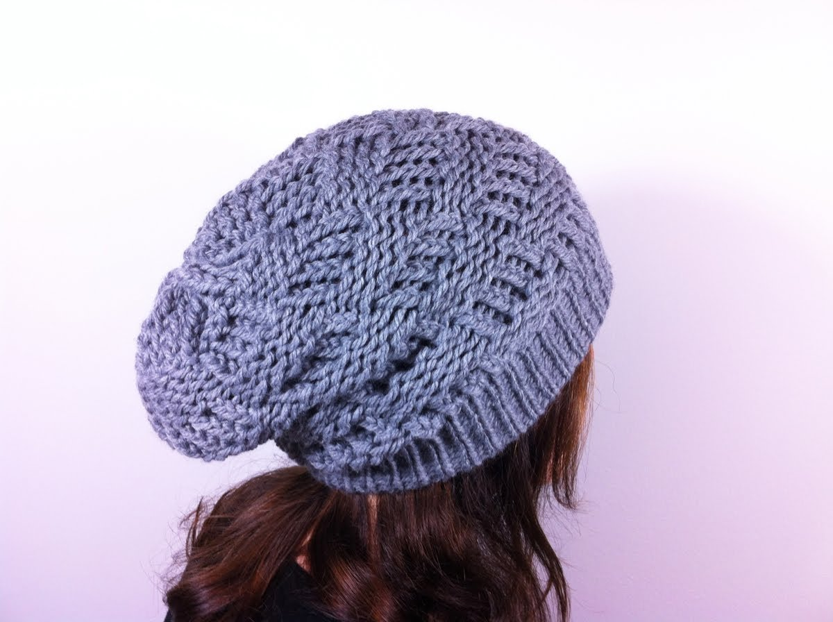 Free Knitting Patterns For Doll Clothes : Loom Knit Slouchy Hat Patterns A Knitting Blog