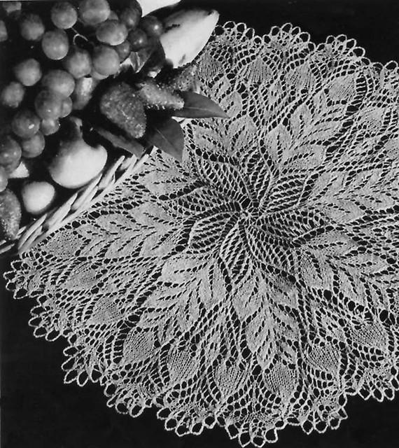 Knit Doily Patterns A Knitting Blog