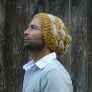 Yellow Beanie Knitting Pattern Tutorial Images