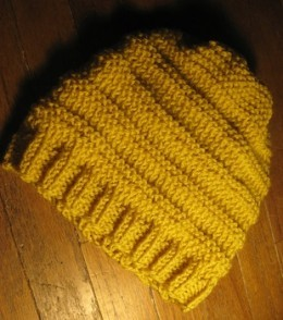 Yellow Knit Beanie Pattern Photos