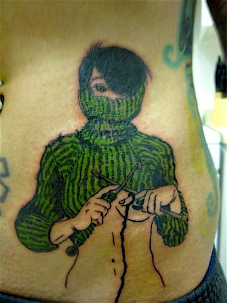 Knitting Tattoo Images : Even more knit tattoos a knitting