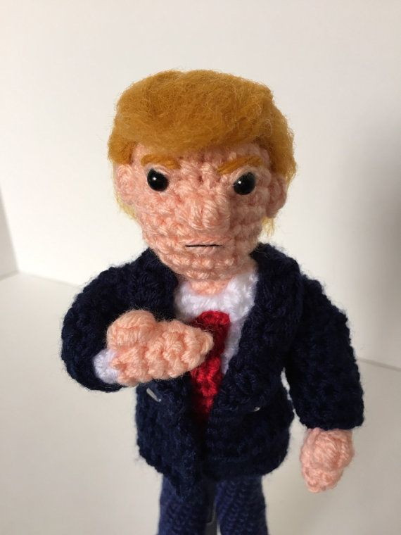 Knitting Patterns For Porcelain Dolls : Hillary Clinton and Donald Trump Knitted Dolls A ...