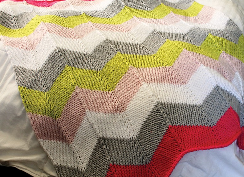 Excepcional Zig Zag Knitted Blanket Pattern Fotos - Ideas de ...